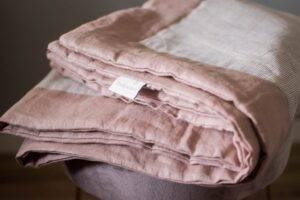 Linen bedspreads dusty pink