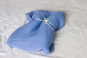 Linen bedsheet indygoblue
