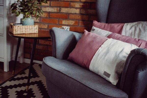 lniana poduszka dekoracyjna