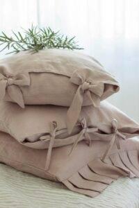 lniana poszewka na poduszką