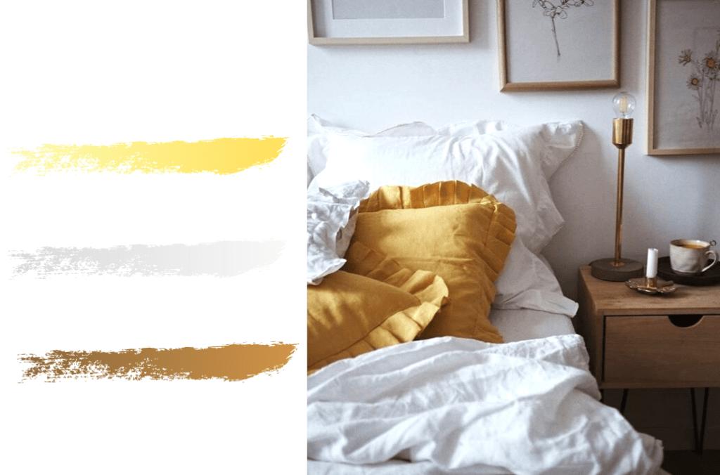 siła kolorów biel i żółty